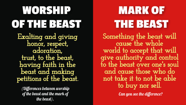differences between worship of the beast and the mark of the beast